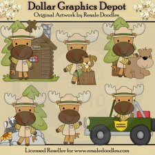 Little Ranger Moose - Clip Art
