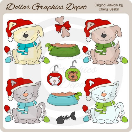 A Pet For Christmas - Clip Art
