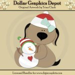 Yuletide Doggies 2 - Cutting Files / Paper Piecing Patterns