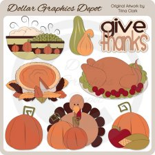 Thanksgiving Dinner - Clip Art