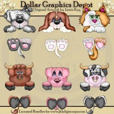 Dangle Critters - Clip Art