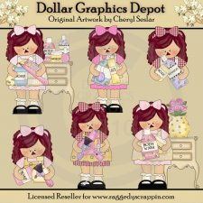 Girly Girl Annies - Clip Art - *DCS Exclusive*