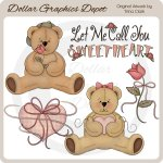 Sweetheart Bears 1 - Clip Art