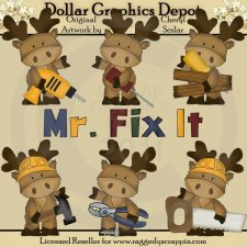 Marvin The Moose - Mr. Fix It - Clip Art