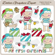 Baby Loves Christmas - Clip Art