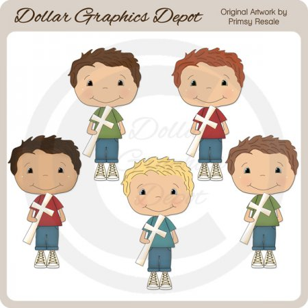 Boys of Faith 1 - Clip Art