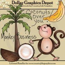 Coconuts Over You - Clip Art