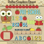 ABC Preschool - Clip Art - *DGD Exclusive*