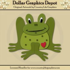 Heart Frog - Cutting Files / Paper Piecing Patterns