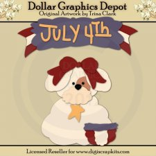 Independence Day Pup - Cutting Files / Paper Piecing Patterns