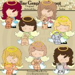 Heavenly Angels and Pets - Clip Art