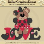 Ladybug Bear 5 - Cutting Files / Paper Piecing - *DGD Exclusive*