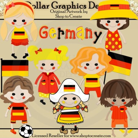 German Dolls - Clip Art