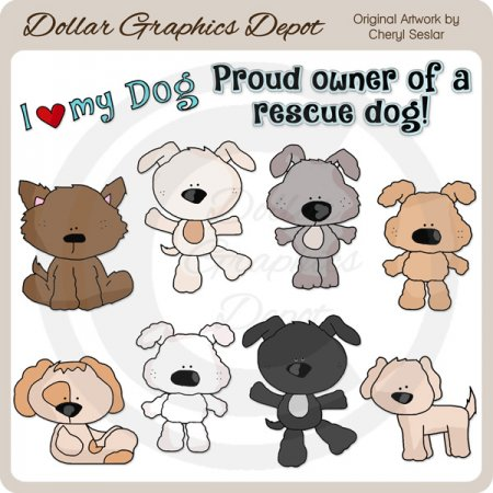 Rescue Dogs - Clip Art