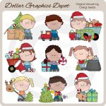 Sweet Kids - Christmas - Clip Art