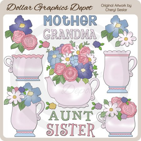 Tea For Mother - Clip Art