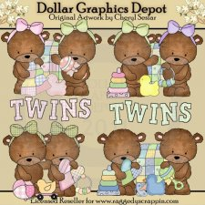 Baxter and Bailey Twins - Clip Art