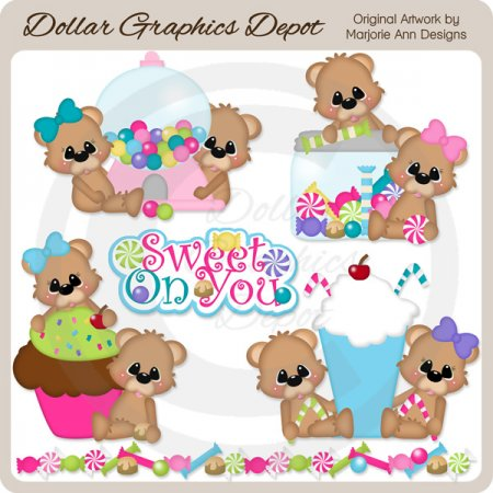 Sweet On You Bears - Clip Art