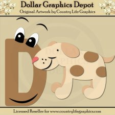 Alphabet Letter D - Cutting Files / Paper Piecing Patterns