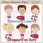 Little Lifeguards - Clip Art