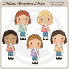 Girls of Faith 1 - Clip Art