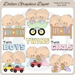 Twin Babies - Clip Art - *DGD Exclusive*