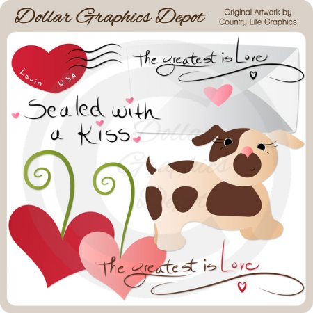 Sealed With A Kiss - Clip Art