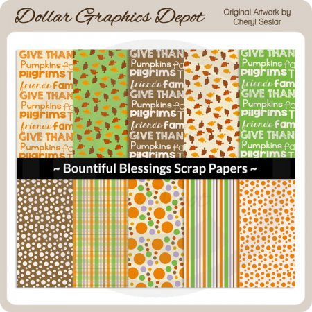 Bountiful Blessings - Scrap Papers