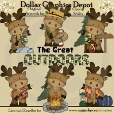 Marvin The Moose - The Great Outdoors - Clip Art