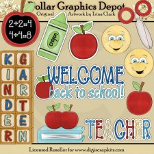 Back to School - Kindergarten - Clip Art