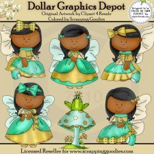 Butterfly Angels 2 - Clip Art