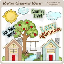 Country Livin' - Clip Art