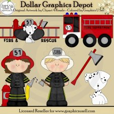 Firefighters - Clip Art