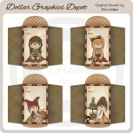 Christmas Girls 4 - Gift Card Envelopes