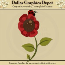 Ladybug Flower - Cutting Files / Paper Piecing Patterns