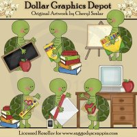 Silly Turtles - School - Clip Art