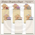 Tea Time Bear Lists 2 - Printables - *DGD Exclusive*