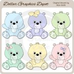 Sweet Baby Bears 2 - Clip Art - *DGD Exclusive*