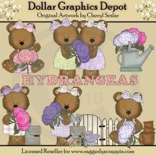 Hydrangea Bears - *DGD Exclusive*