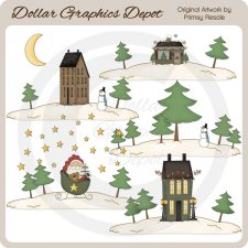 Winter Landscapes - Clip Art
