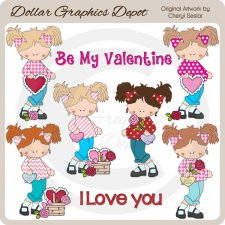 Valentine Teens - Clip Art - *DCS Exclusive*