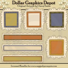 Autumn Doodle Frames and Titles - Clip Art