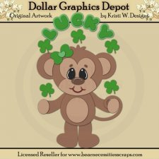 Irish Monkey 4 - Cutting Files / Paper Piecing - *DCS Exclusive*