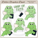 Leap Of Faith Frogs - Clip Art - *DGD Exclusive*