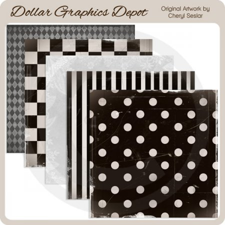 Ebony and Ivory - Scrap Papers