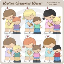 School Nurse - Clip Art - *DCS Exclusive*