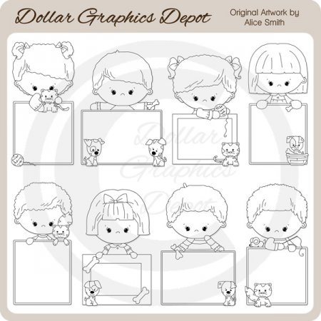 Blank Messages - Pets - Digital Stamps