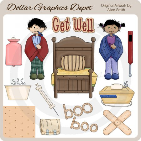 Get Well - Clip Art