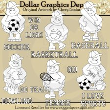 Teddy Turtle Loves Sports - Digital Stamps - *DCS Exclusive*
