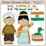 Indian Kids - Clip Art